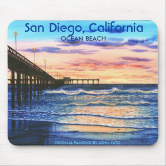 BRIDGE AT SUNSET-T, San Diego, California, ORIG... Mouse Mat