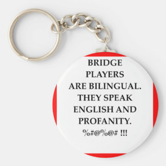 BRIDGE BASIC ROUND BUTTON KEY RING