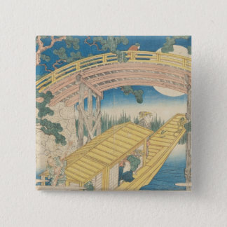 Bridge by Moonlight, from 'Views of Mount 15 Cm Square Badge