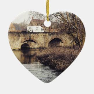 bridge ceramic heart decoration