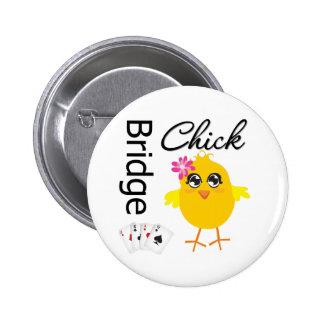 Bridge Chick 6 Cm Round Badge