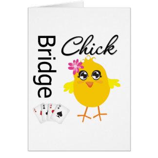 Bridge Chick Greeting Card