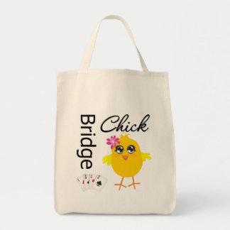 Bridge Chick Grocery Tote Bag