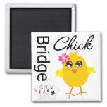 Bridge Chick Refrigerator Magnet