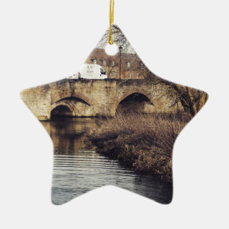 bridge christmas ornament