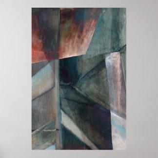 """Bridge Coda"" Digital Abstract Fine Art Poster"