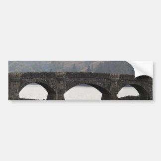 Bridge connecting Eilean Donan Castle highway Bumper Sticker