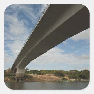 Bridge connecting Guyana to Brazil over Takutu Square Sticker
