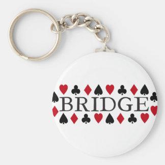 Bridge Design Basic Round Button Key Ring