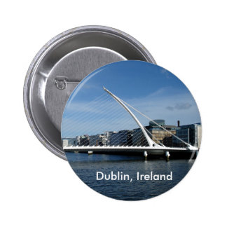 Bridge Dublin Ireland River Badge Name Tag