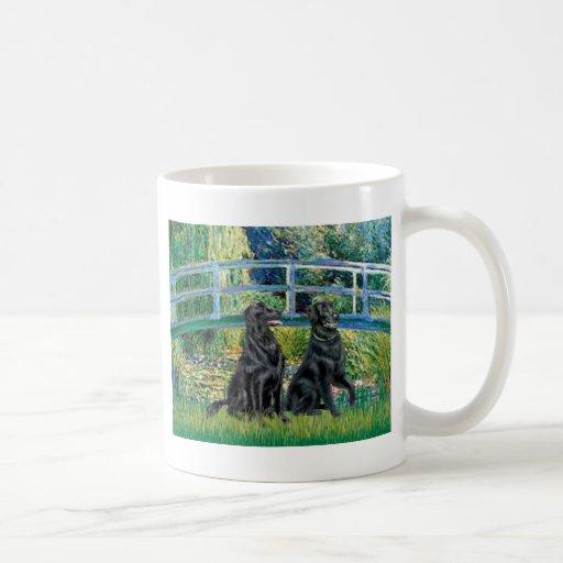 Bridge - Flat Coated Retriever (two) Mugs