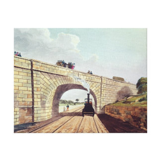 Bridge,from 'Liverpool and Manchester Railway' Canvas Print
