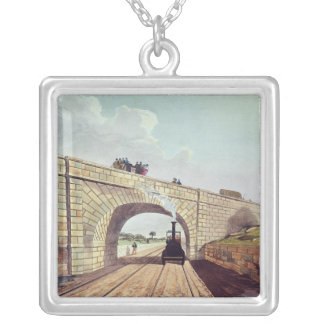 Bridge,from 'Liverpool and Manchester Railway' Silver Plated Necklace