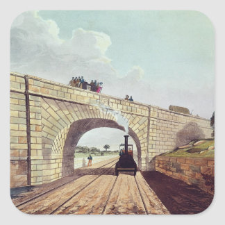 Bridge,from 'Liverpool and Manchester Railway' Square Sticker