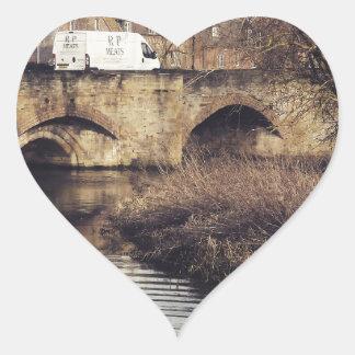 bridge heart sticker
