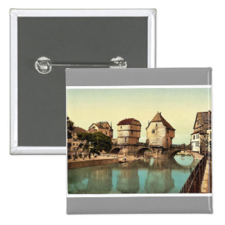 Bridge houses, Kreuznach (i.e., Bad Kreuznach), Na 15 Cm Square Badge