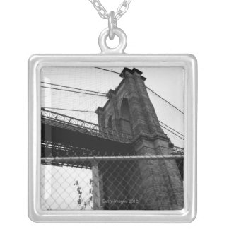 Bridge In Manhattan Silver Plated Necklace