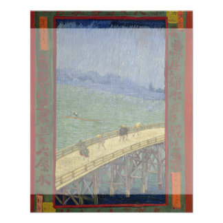 Bridge in Rain after Hiroshige by Vincent Van Gogh 11.5 Cm X 14 Cm Flyer