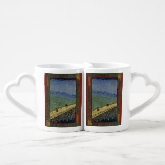 Bridge in Rain after Hiroshige by Vincent Van Gogh Couples Mug