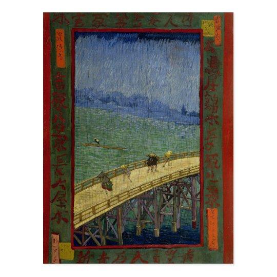 Bridge in Rain after Hiroshige by Vincent Van