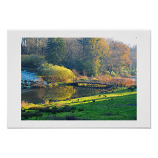 Bridge in the countryside poster
