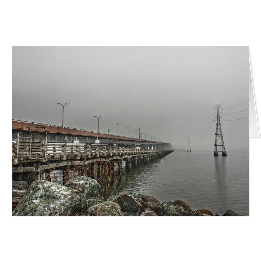 Bridge in the Fog 2 Card Greeting Card