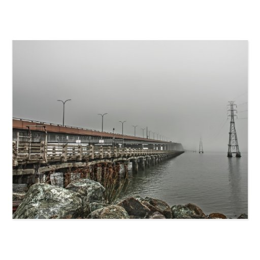 Bridge in the Fog 2 Postcard Postcard