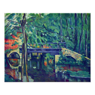 Bridge in the forest by Paul Cezanne Poster
