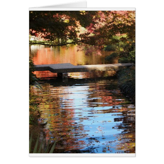 Bridge in the Garden Greeting card