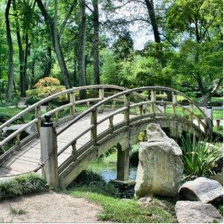 Bridge in the Garden Standing Photo Sculpture