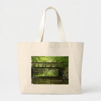 Bridge in the Woods Jumbo Tote Bag