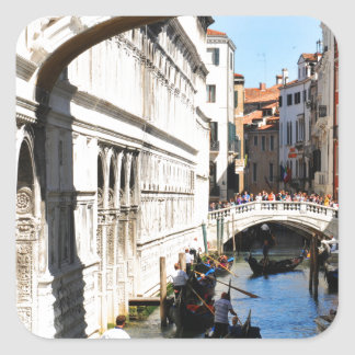 Bridge in Venice, Italy Square Sticker