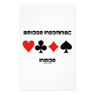 Bridge Insomniac Inside (Four Card Suits) Stationery