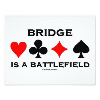 Bridge Is A Battlefield 11 Cm X 14 Cm Invitation Card