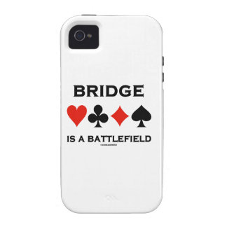 Bridge Is A Battlefield (Four Card Suits) iPhone 4/4S Cases