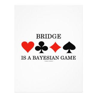 Bridge Is A Bayesian Game Flyer Design