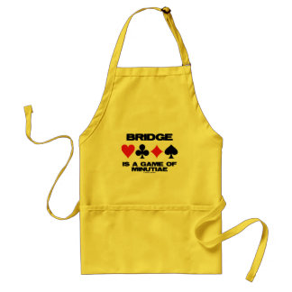 Bridge Is A Game Of Minutiae (Four Card Suits) Adult Apron