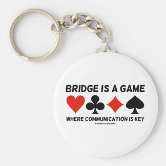 Bridge Is A Game Where Communication Is Key Basic Round Button Key Ring
