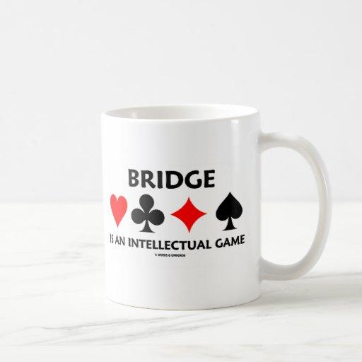 Bridge Is An Intellectual Game (Bridge Attitude) Basic White Mug