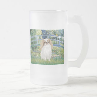 Bridge - Japanese Chin (L1) 16 Oz Frosted Glass Beer Mug