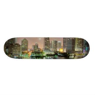 Bridge leads across waterway to downtown Miami Custom Skateboard