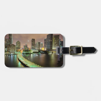 Bridge leads across waterway to downtown Miami Luggage Tag