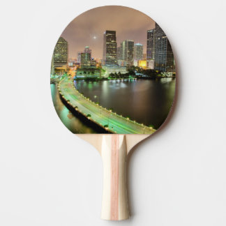 Bridge leads across waterway to downtown Miami Ping Pong Paddle
