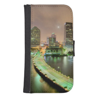 Bridge leads across waterway to downtown Miami Samsung S4 Wallet Case
