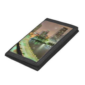 Bridge leads across waterway to downtown Miami Tri-fold Wallets