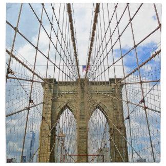 Bridge New York Brooklyn City Building Structure Napkin