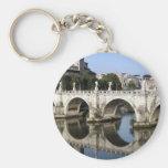 Bridge of Castel st Angelo, Rome, Italy Key Chains