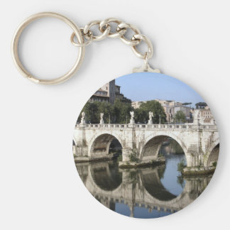 Bridge of Castel st Angelo, Rome, Italy Key Ring