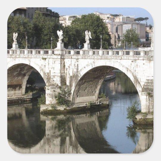 Bridge of Castel st Angelo, Rome, Italy Square
