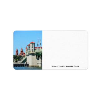 Bridge of Lions Address Label